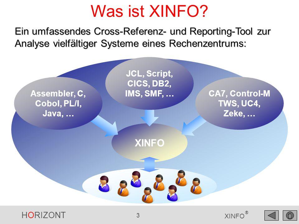 HORIZONT 44 XINFO ® Neu mit XINFO 3.7 Unterstützung von Automic version 10.