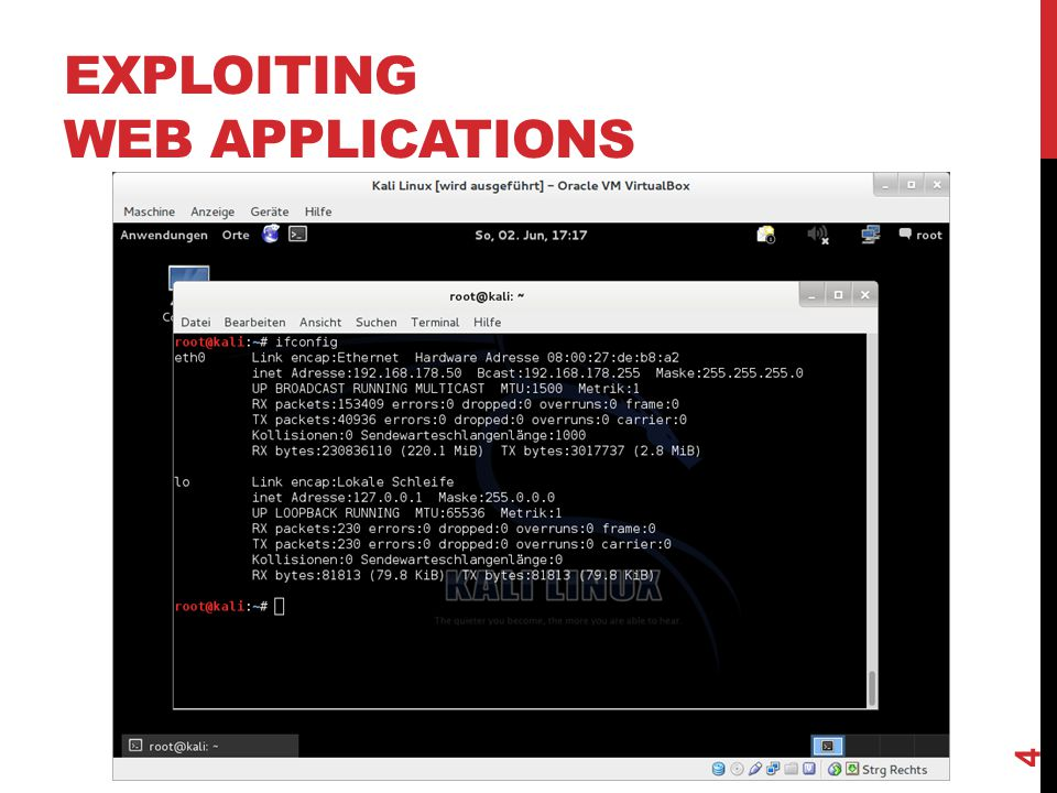 EXPLOITING WEB APPLICATIONS 15