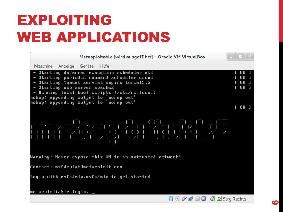 EXPLOITING WEB APPLICATIONS 6