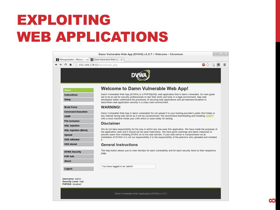 EXPLOITING WEB APPLICATIONS 8