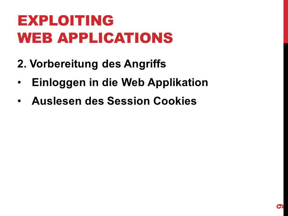 EXPLOITING WEB APPLICATIONS 10