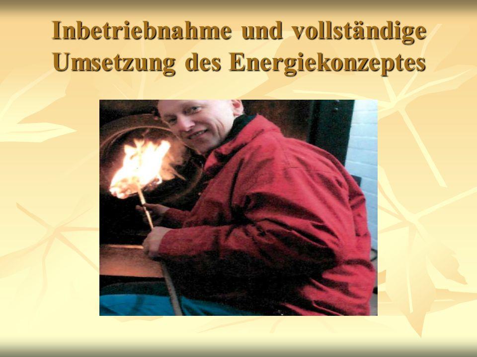 Inbetriebnahme und vollständige Umsetzung des Energiekonzeptes