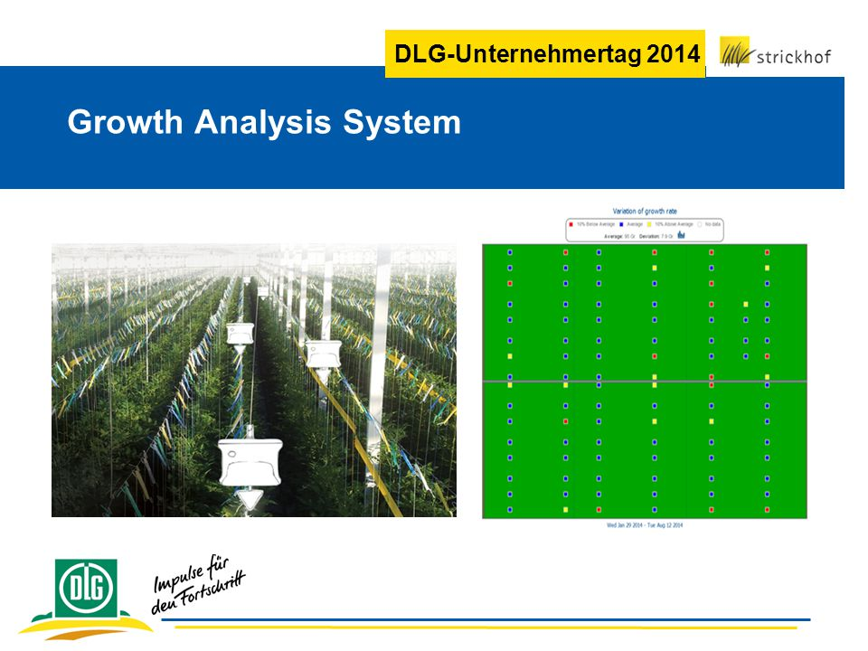 DLG-Unternehmertag 2014 Growth Analysis System