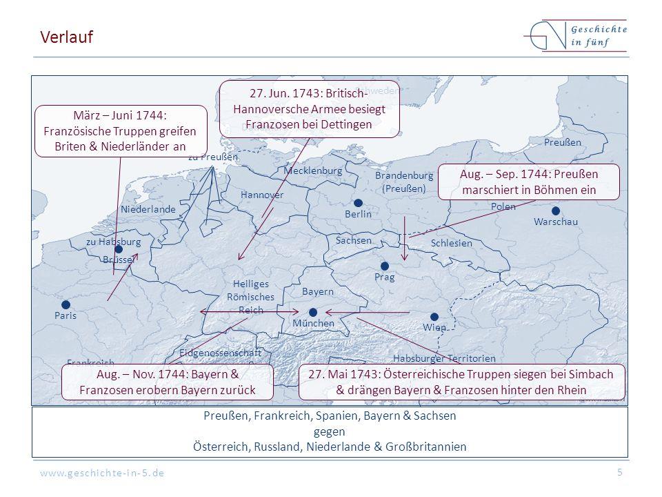 www.geschichte-in-5.de Großbritannien, Niederlande, Sachsen-Polen & Österreich (Quadrupel-Allianz von Warschau, 20.
