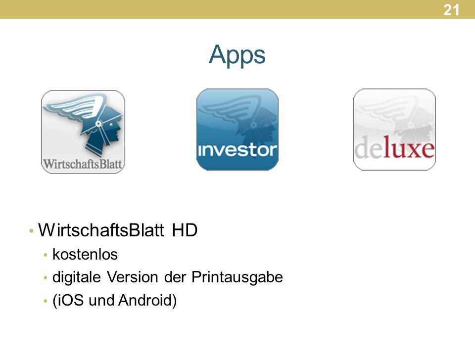 Apps WirtschaftsBlatt HD kostenlos digitale Version der Printausgabe (iOS und Android) 21
