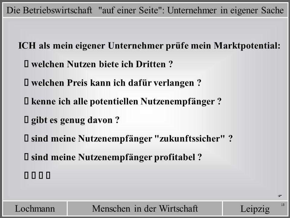 LochmannMenschen in der Wirtschaft Leipzig 18 Die Betriebswirtschaft