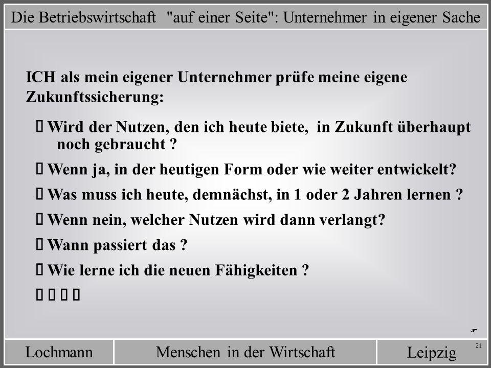 LochmannMenschen in der Wirtschaft Leipzig 21 Die Betriebswirtschaft