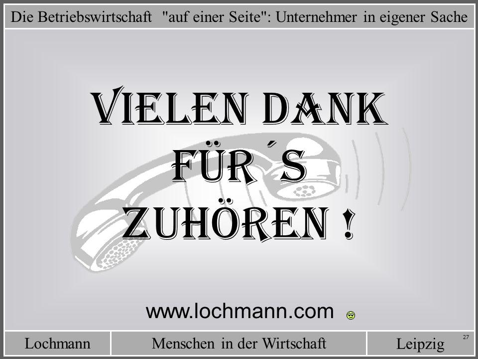 LochmannMenschen in der Wirtschaft Leipzig 27 Die Betriebswirtschaft