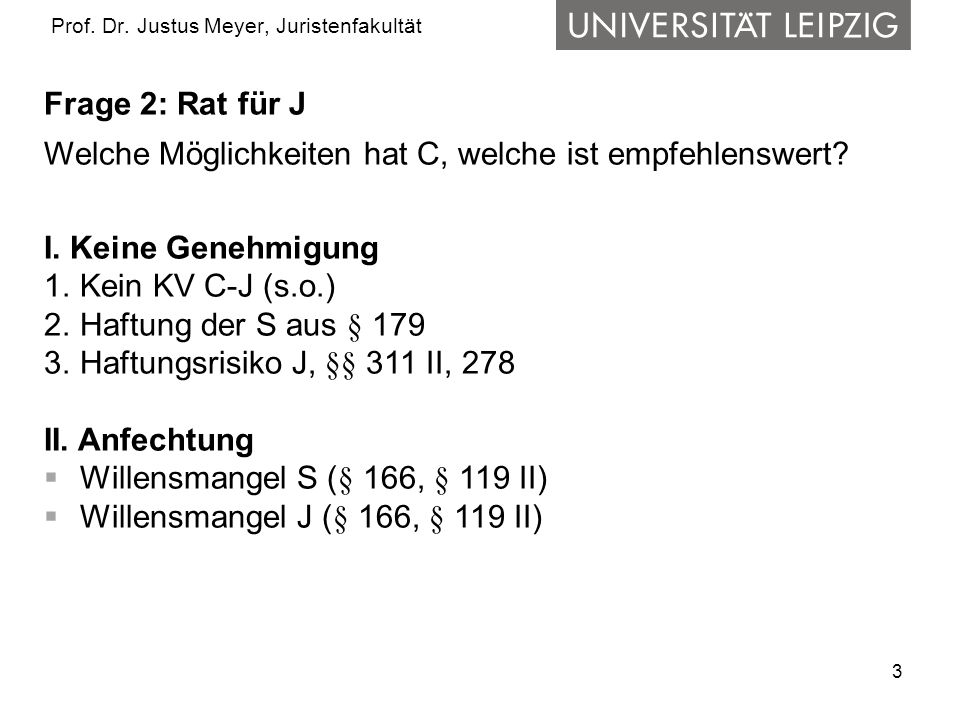 4 Prof.Dr. Justus Meyer, Juristenfakultät III.