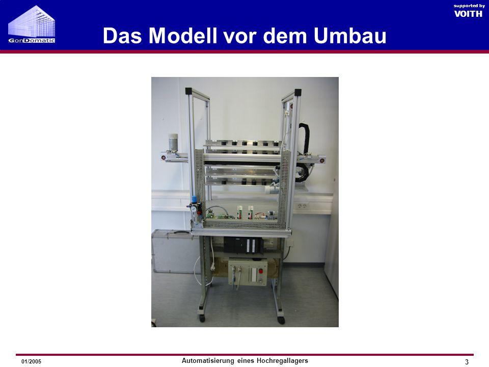 Automatisierung eines Hochregallagers GonDomatic 2005 VOITH supported by 01/2005 Das Modell vor dem Umbau 3 VOITH supported by
