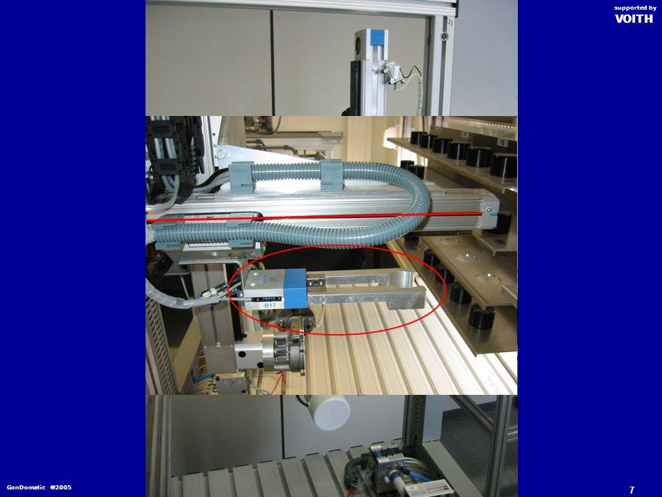 Automatisierung eines Hochregallagers GonDomatic 2005 VOITH supported by 01/2005 Erläuterung der Betriebsarten 17 Automatikbetrieb 1 876 54 3 2 910 WE WA 15 14 131211 1617181920 Einlagern VOITH supported by