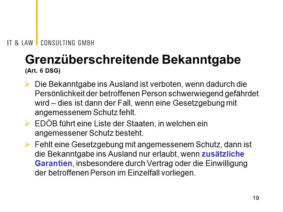 Grenzüberschreitende Bekanntgabe (Art.