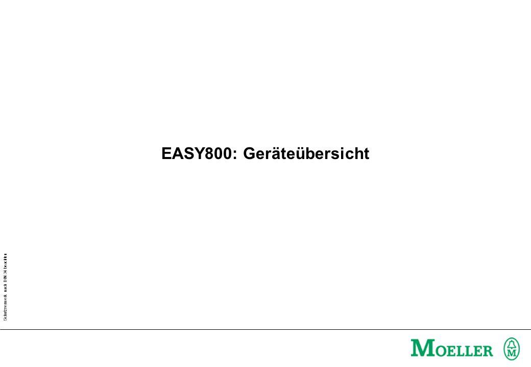 Schutzvermerk nach DIN 34 beachten EASY800: Geräteübersicht