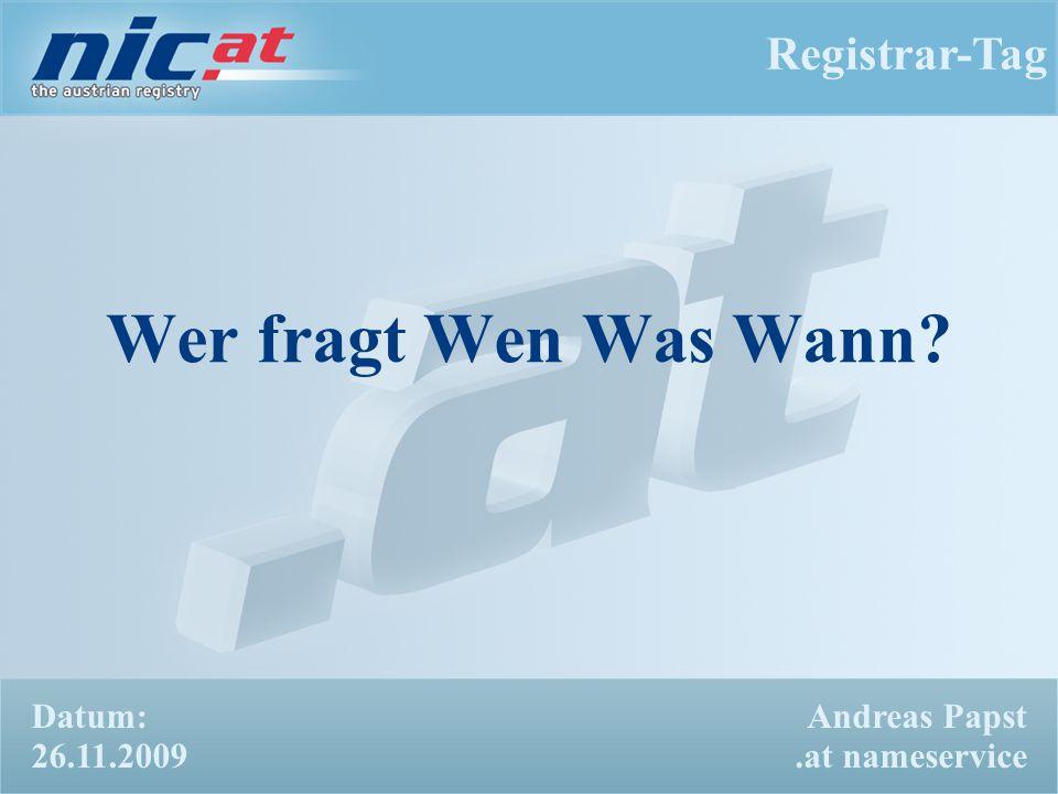 Registrar-Tag 22