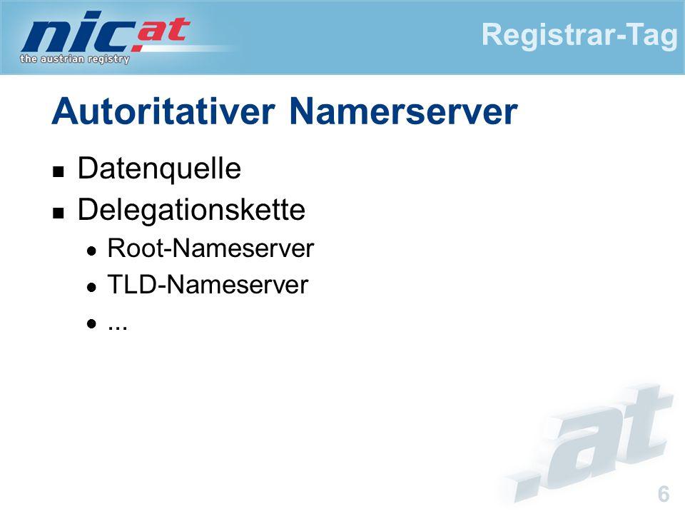 Registrar-Tag 7 Sensible Daten.