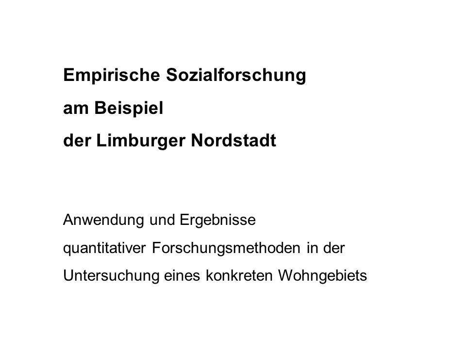 Empirische Sozialforschung am Beispiel der Limburger Nordstadt Anwendung und Ergebnisse quantitativer Forschungsmethoden in der Untersuchung eines kon