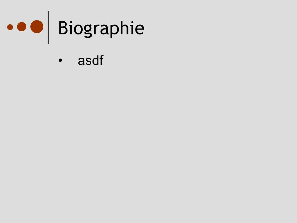 Biographie asdf