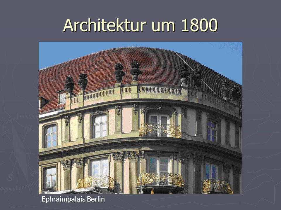 Architektur um 1800 Ephraimpalais Berlin