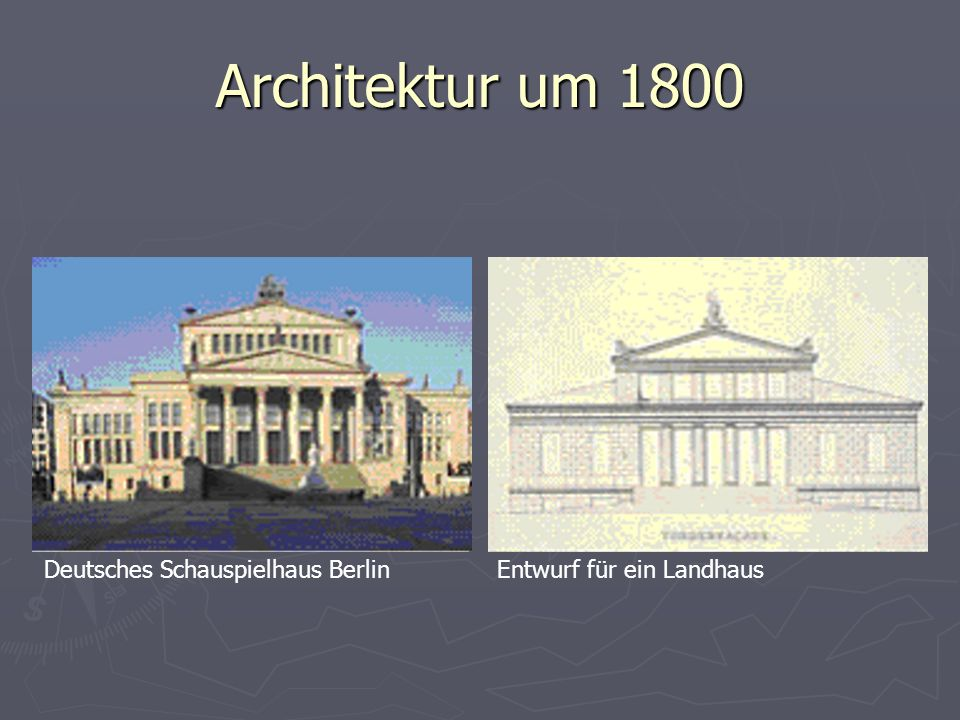 Architektur um 1800 Deutsches Schauspielhaus BerlinEntwurf für ein Landhaus