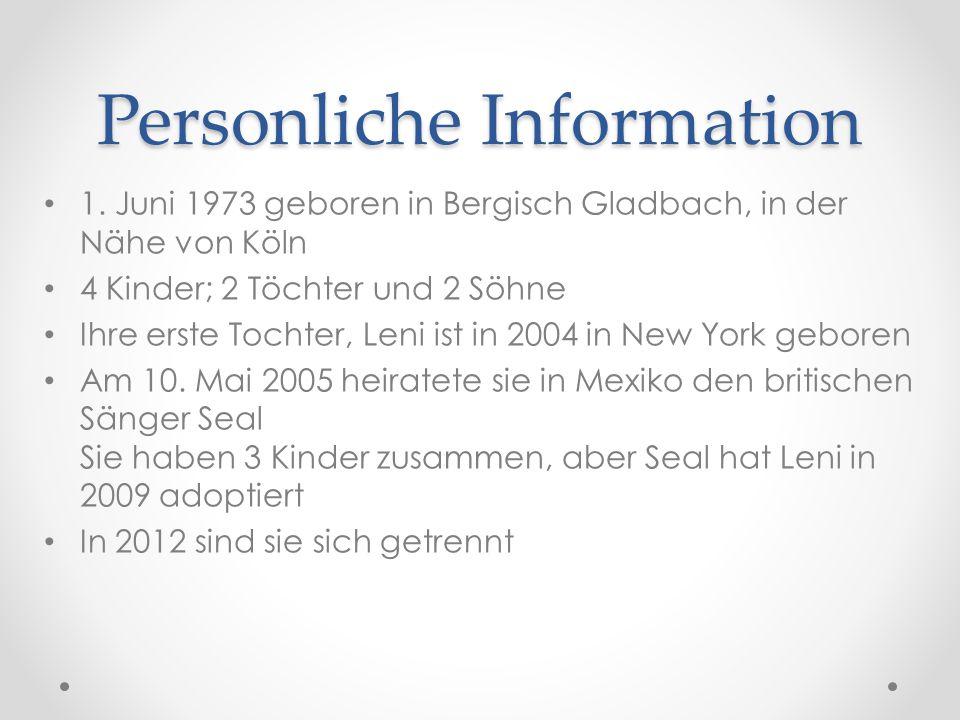 Personliche Information 1.
