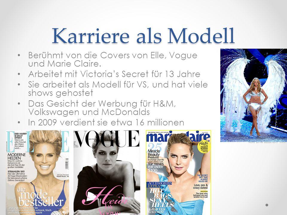 Karriere als Modell Berühmt von die Covers von Elle, Vogue und Marie Claire.