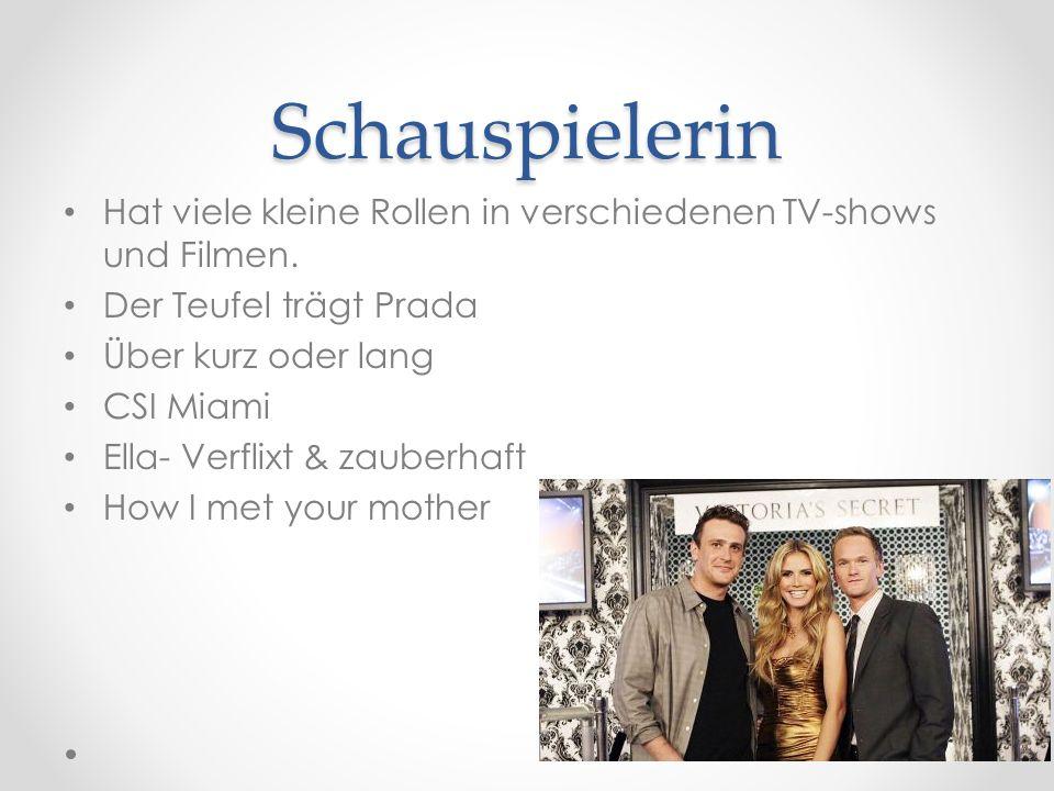 Schauspielerin Hat viele kleine Rollen in verschiedenen TV-shows und Filmen.