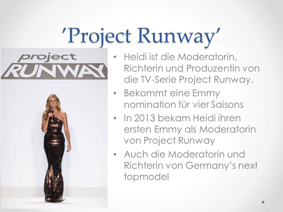 'Project Runway' Heidi ist die Moderatorin, Richterin und Produzentin von die TV-Serie Project Runway.