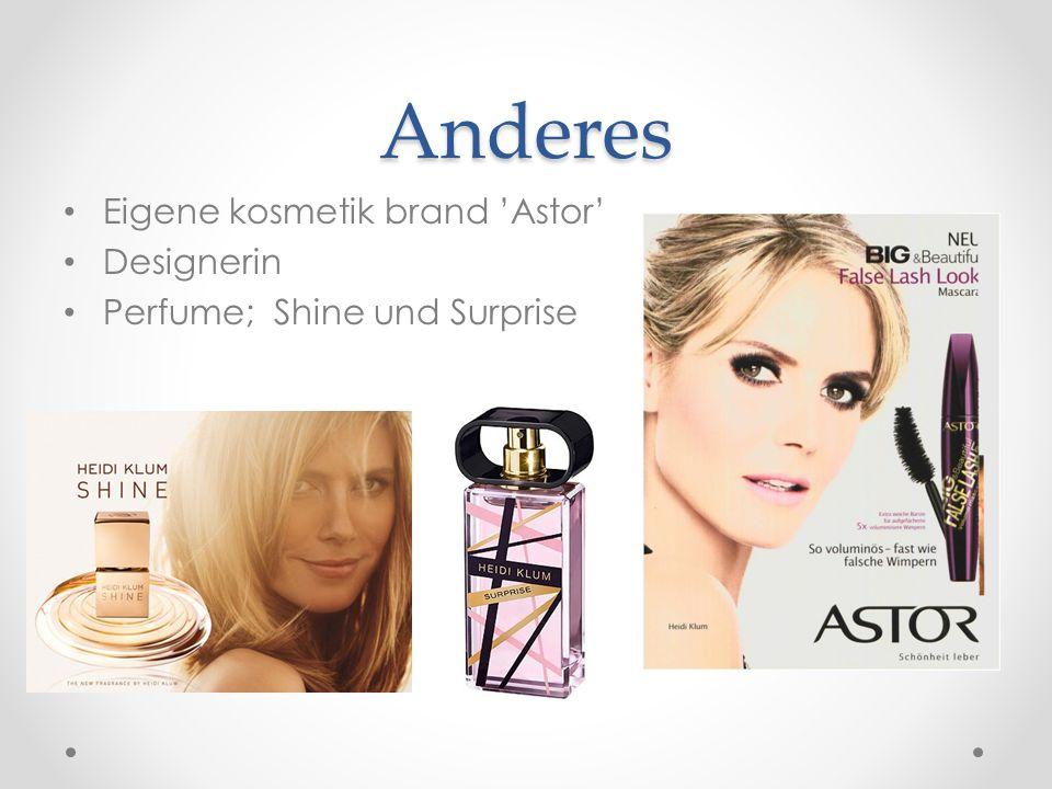 Anderes Eigene kosmetik brand 'Astor' Designerin Perfume; Shine und Surprise