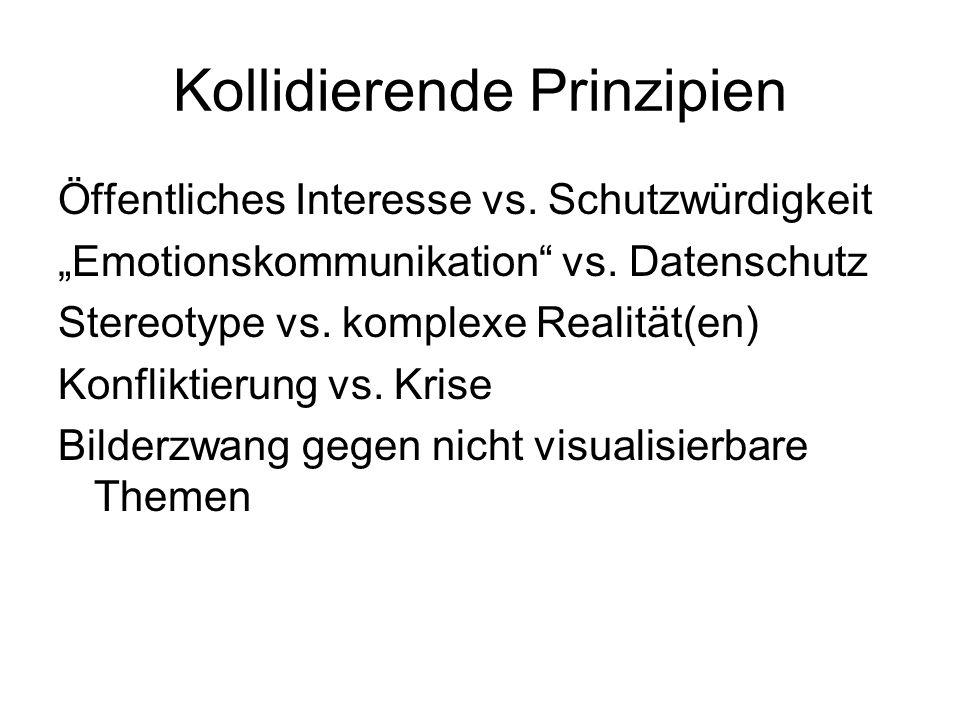 Kollidierende Prinzipien Öffentliches Interesse vs.