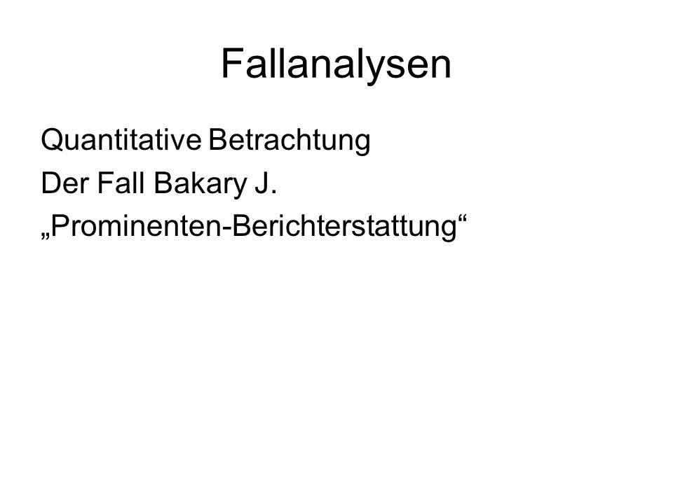 """Fallanalysen Quantitative Betrachtung Der Fall Bakary J. """"Prominenten-Berichterstattung"""
