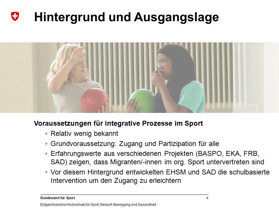 4 Bundesamt für Sport Eidgenössische Hochschule für Sport, Ressort Bewegung und Gesundheit Gesellschaftliche Bedingungen: (Kulturell) vielfältige Gese