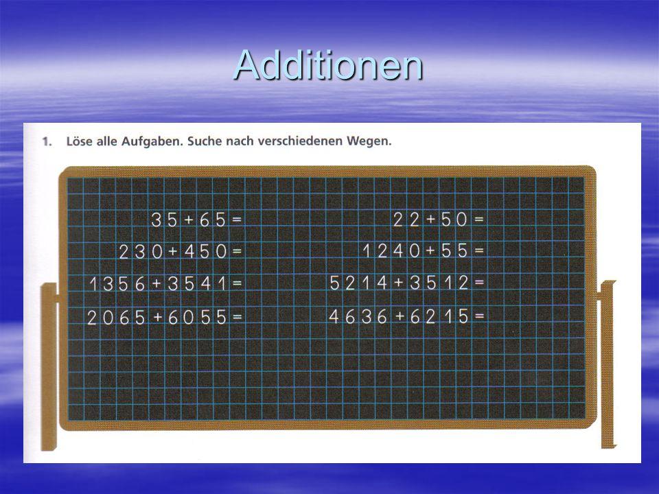 Die Stellenwerttafel  Punkte in der Stellenwerttafel können zusammengezählt werden.