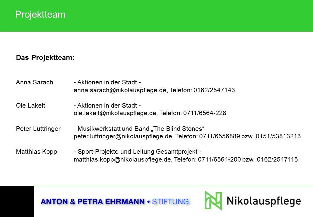 Das Projektteam: Anna Sarach - Aktionen in der Stadt - anna.sarach@nikolauspflege.de, Telefon: 0162/2547143 Ole Lakeit- Aktionen in der Stadt - ole.la