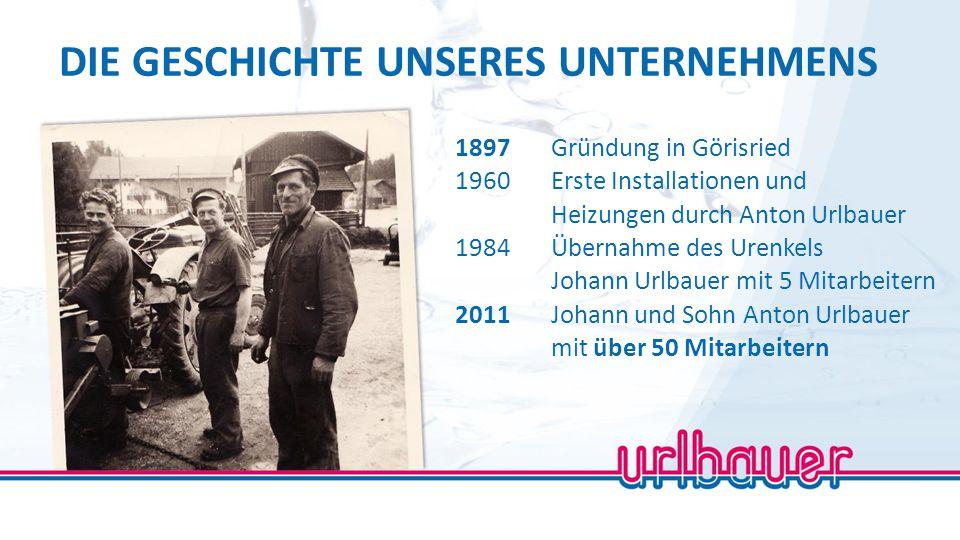 LEISTUNG AUS MEISTERHAND Johann Urlbauer Geschäftsführer Anton Urlbauer Geschäftsführer
