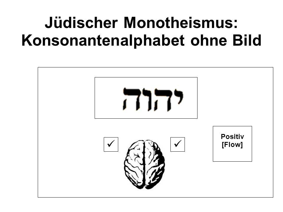 Jüdischer Monotheismus: Konsonantenalphabet ohne Bild Positiv [Flow]