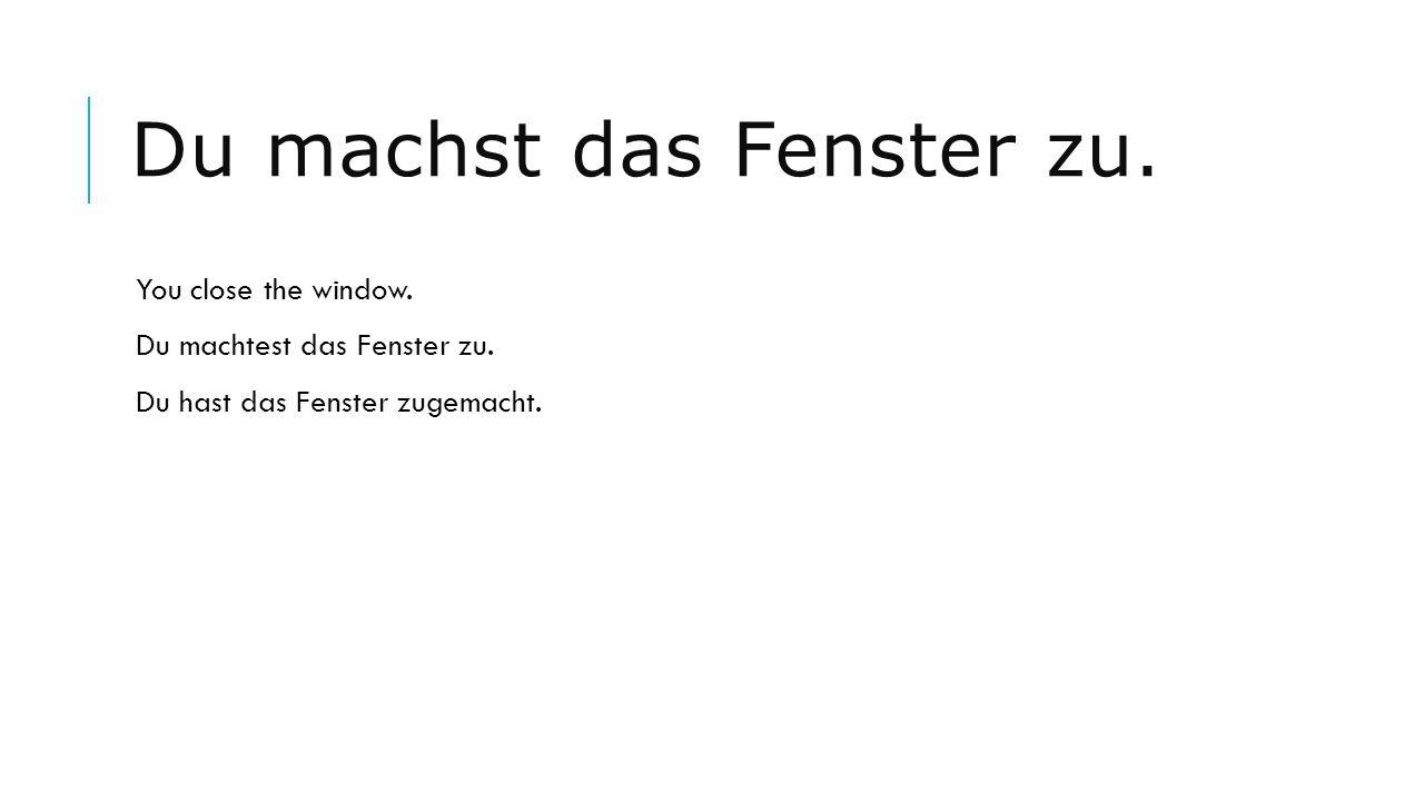 Ich lerne fleißig Deutsch.I learn German diligently.