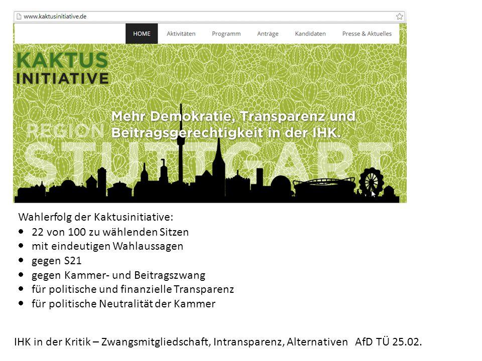 IHK in der Kritik – Zwangsmitgliedschaft, Intransparenz, Alternativen AfD TÜ 25.02. Alternativen