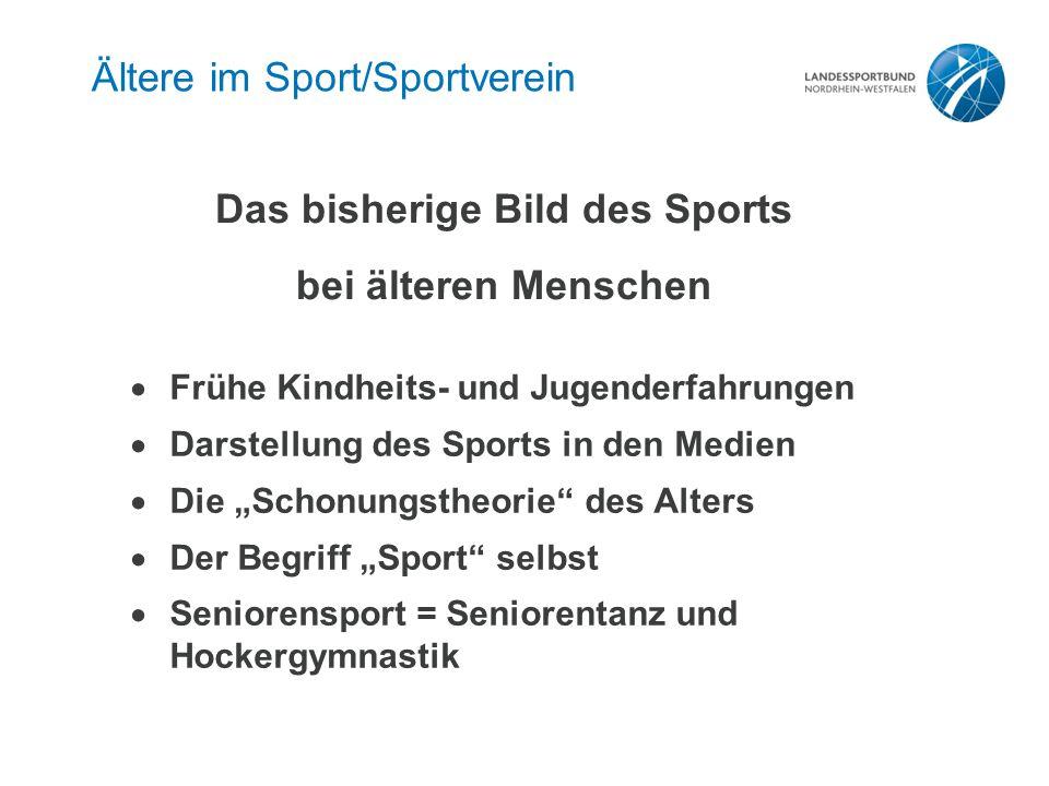 """Zielgruppen der Älteren im Verein """"Ältere im Sport/Sportverein"""