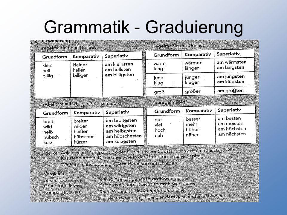 Grammatik - Graduierung