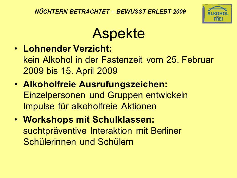 Lohnender Verzicht: kein Alkohol in der Fastenzeit vom 25.