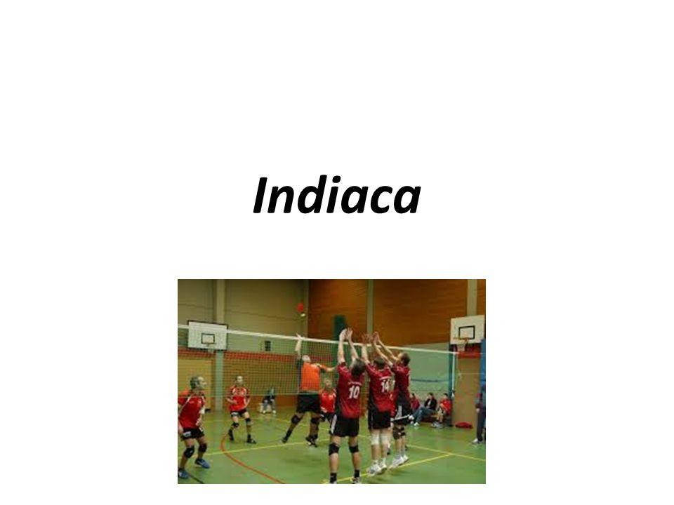 Grundwissen Indiaca ist ein Mannschaftsspiel Es ist ein Rückschlagspiel (d.h es wird so gespielt das der Ball immer wieder über das Netz gespielt wird bis eine Mannschafft es nicht schafft und sich verschlägt Es ist ähnlich wie Volleyball