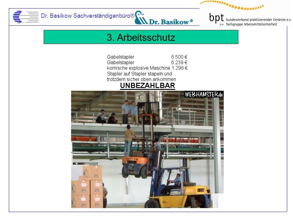 Dr. Basikow Sachverständigenbüro® 3. Arbeitsschutz