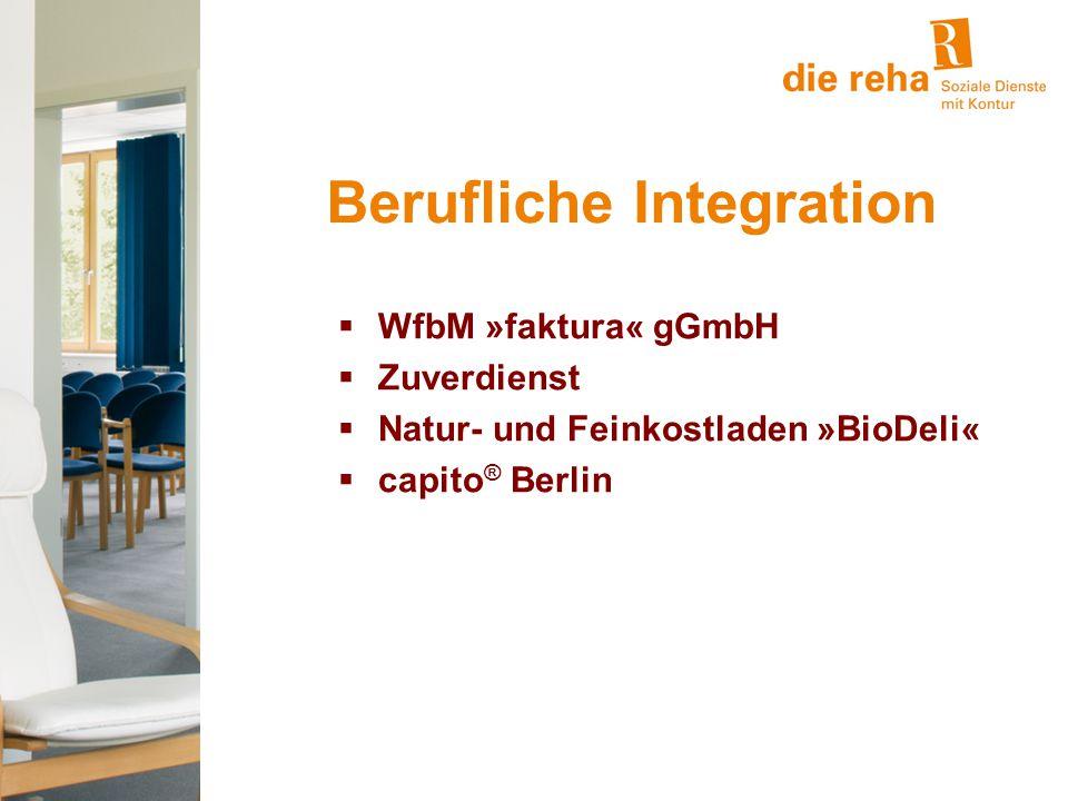 Berufliche Integration  WfbM »faktura« gGmbH  Zuverdienst  Natur- und Feinkostladen »BioDeli«  capito ® Berlin