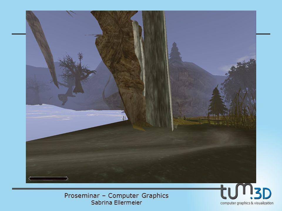 Proseminar – Computer Graphics Sabrina Ellermeier computer graphics & visualization Gliederung 1.