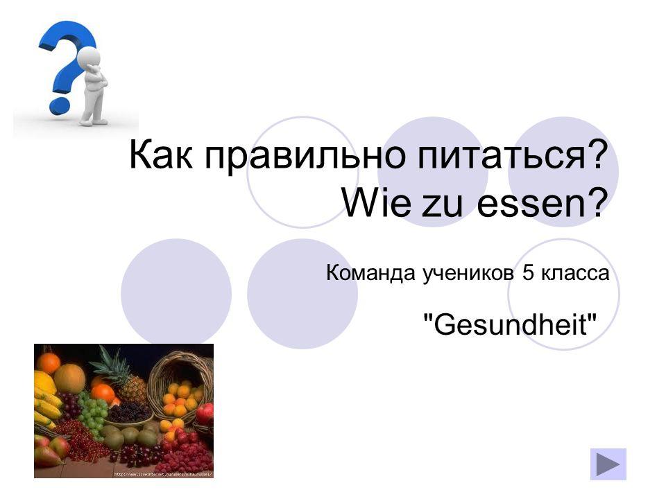 Inhalt: Positive Aspekte der Ernährung Negative Aspekte der richtigen Ernährung Wie zu essen Insgesamt Literatur