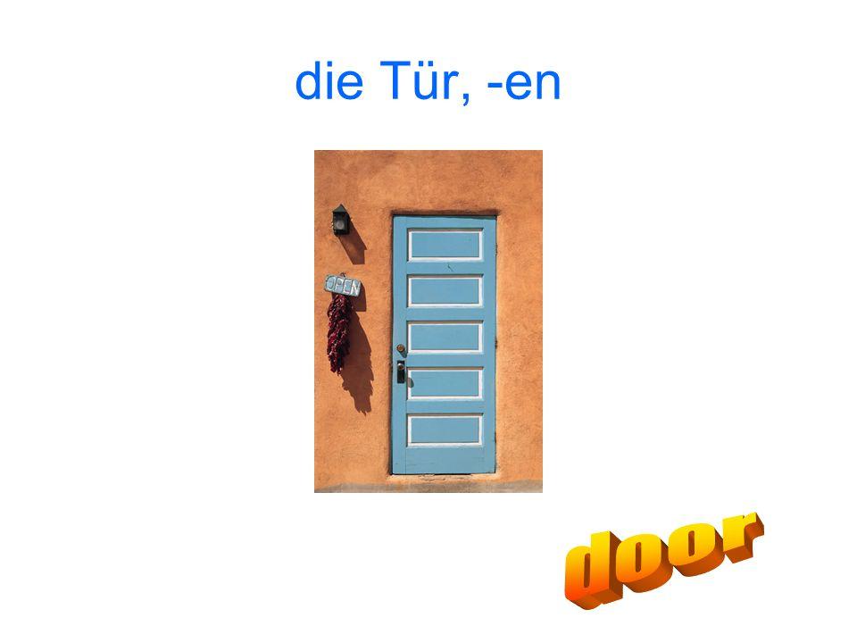 die Tür, -en