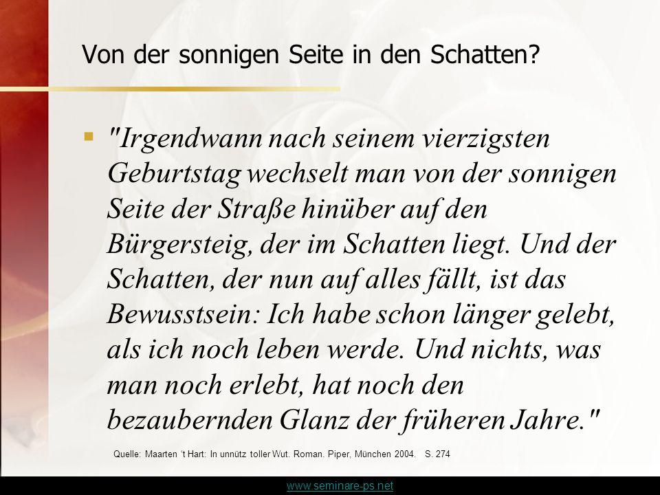 www.seminare-ps.net Von der sonnigen Seite in den Schatten.